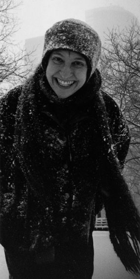 photo of anna dembska in snow